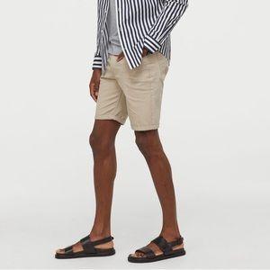H&M Slim Fit Cotton Shorts